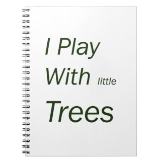 I play with little trees spiral notebook