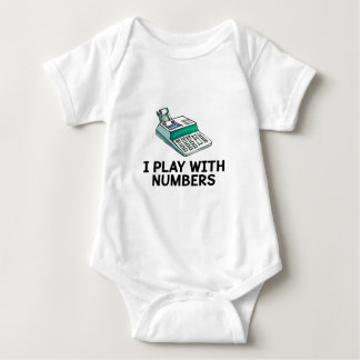 I Play With Numbers Baby Bodysuit