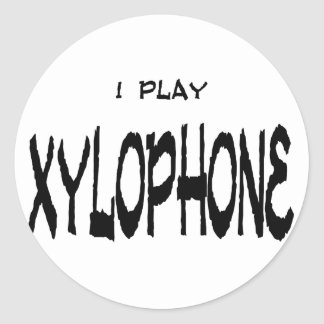 I play XYLOPHONE Classic Round Sticker