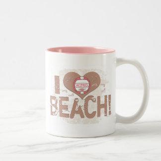 I playa del corazón taza de dos tonos