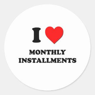 I plazos mensuales del corazón etiqueta