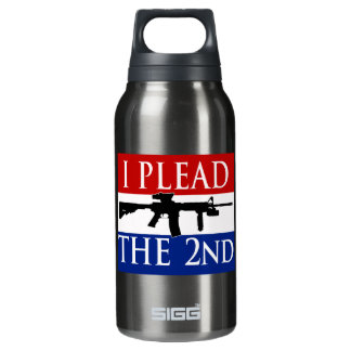 I Plead the 2nd Aluminum 10 Oz Insulated SIGG Thermos Water Bottle