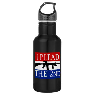 I Plead the 2nd Aluminum 18oz Water Bottle