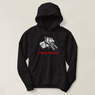 I Plead The 2nd Black Hoodie w/ Red Font