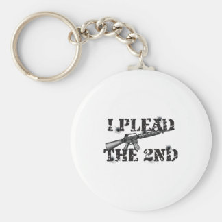 I plead the 2nd basic round button keychain