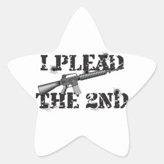 I plead the 2nd star sticker