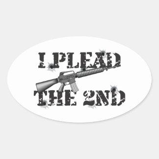 I plead the 2nd oval sticker