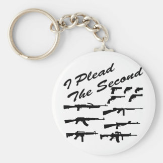 I Plead The Second Basic Round Button Keychain