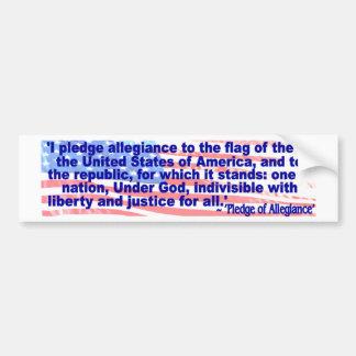 I pledge allegiance bumper sticker