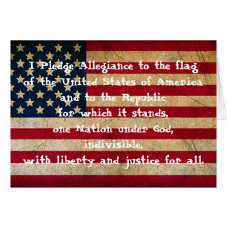 I Pledge Allegiance Greeting Card
