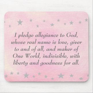 I pledge allegiance to God, mousepad