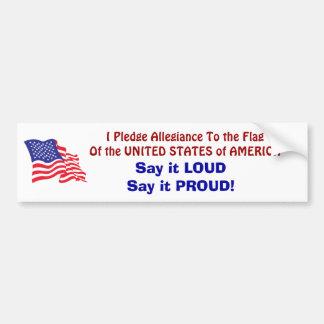 I Pledge Allegiance To the F... Bumper Sticker