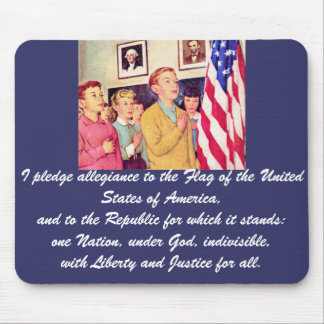 I Pledge Allegiance To the Flag Mouse Pad