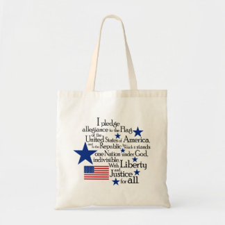 I pledge Allegiance to the flag of the United Budget Tote Bag