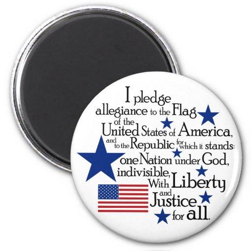 I pledge Allegiance to the flag of the United Fridge Magnet