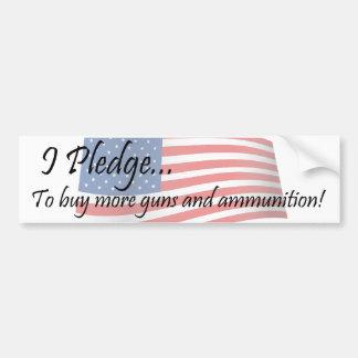 I Pledge - Guns Bumper Sticker
