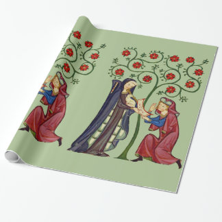 I Pledge My Love - Sage Wrapping Paper