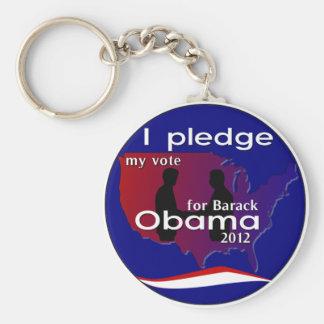 I Pledge My Vote For Barack Obama 2012 Keychain