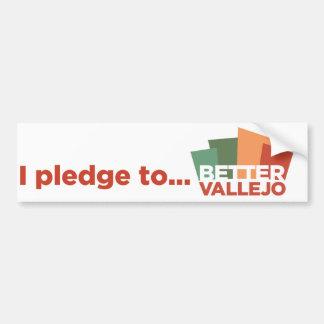 i pledge to..., Better Vallejo bumper sticker