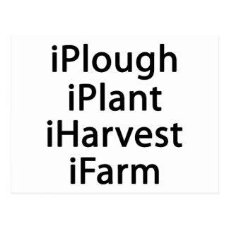 I plough plant harvest farm postcard