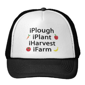 i Plough plant harvest farm with fruits Trucker Hat
