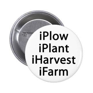 I plow plant harvest farm 2 inch round button