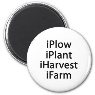 I plow plant harvest farm 2 inch round magnet