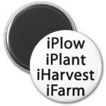 I plow plant harvest farm fridge magnet