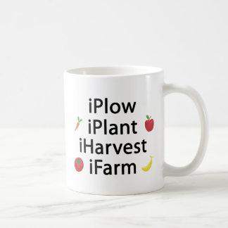 I Plow plant harvest farm with fruits Classic White Coffee Mug