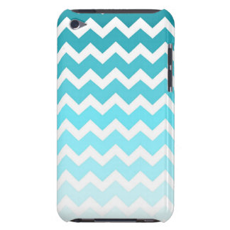 i Pod Blue Ombre Chevrons Pattern iPod Touch Case-Mate Case
