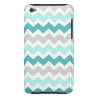 i Pod Grey Teal Geometric Pattern Barely There iPod Covers