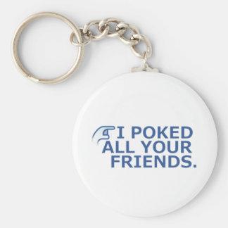 I Poked Your Friend Basic Round Button Keychain