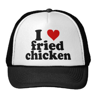 I pollo frito del corazón gorros