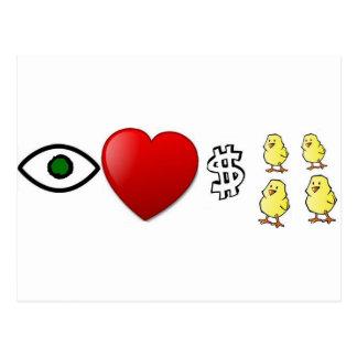 I polluelos de los ricos del corazón tarjetas postales