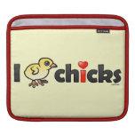 I polluelos reales del corazón funda para iPads