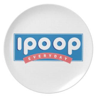 i poop everyday plate