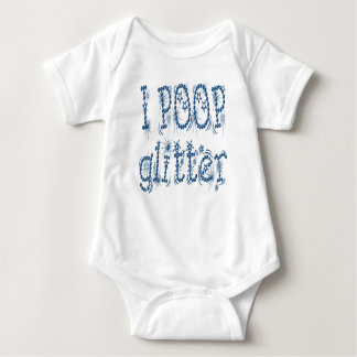 I Poop Glitter Blue Baby One Piece T Shirts