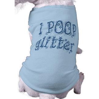 I Poop Glitter Dog Tank Top (blue) Dog Shirt