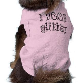 I Poop Glitter Dog Tank Top Doggie T Shirt