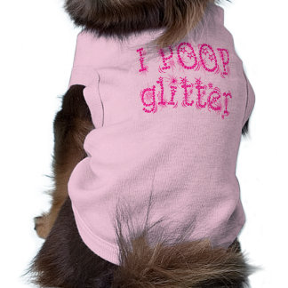 I Poop Glitter Dog Tank Top (pink) Doggie Tshirt