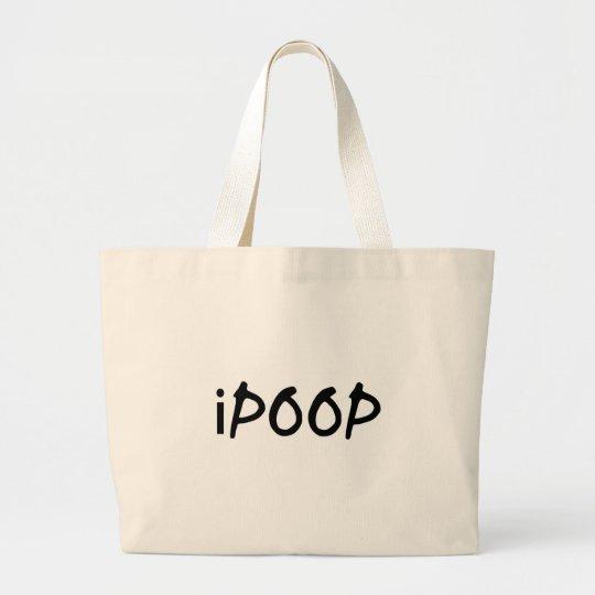 i poop large tote bag