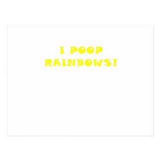 I Poop Rainbows Postcard