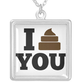 I Poop You Silver Plated Necklace