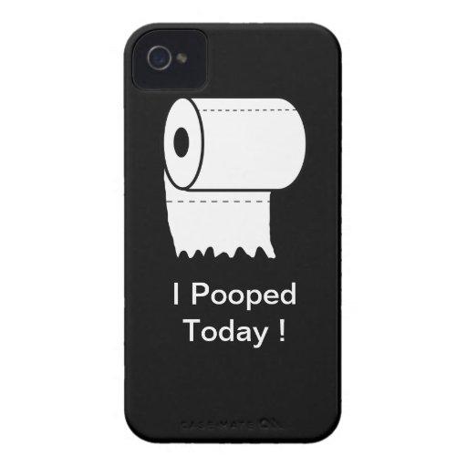 ¡I Pooped hoy! caso del iPhone Carcasa Para iPhone 4 De Case-Mate