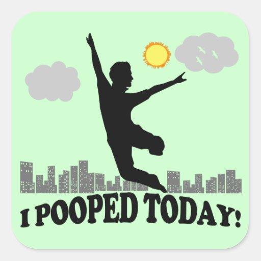 I Pooped hoy Colcomania Cuadrada