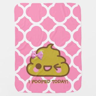 ¡I Pooped hoy!  Cutey Poo Manta De Bebé