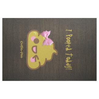 I Pooped hoy - Cutie-Poo con el arco rosado bonito Telas