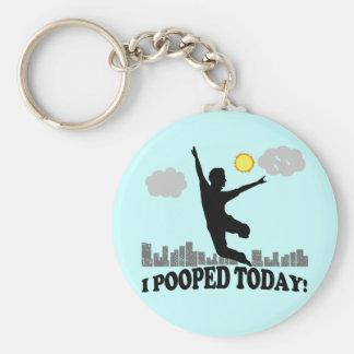 I Pooped hoy Llavero Redondo Tipo Pin
