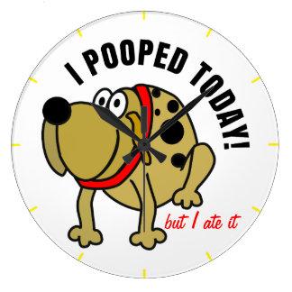 I Pooped hoy Reloj Redondo Grande