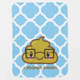 ¡I Pooped hoy!  Sabelotodo Poo Manta De Bebé
